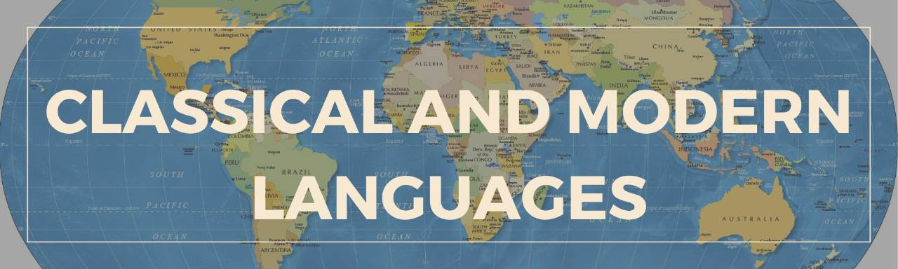 Classics and Modern Languages Header